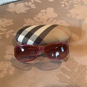 Authentic Burberry sunglasses and carrying case
